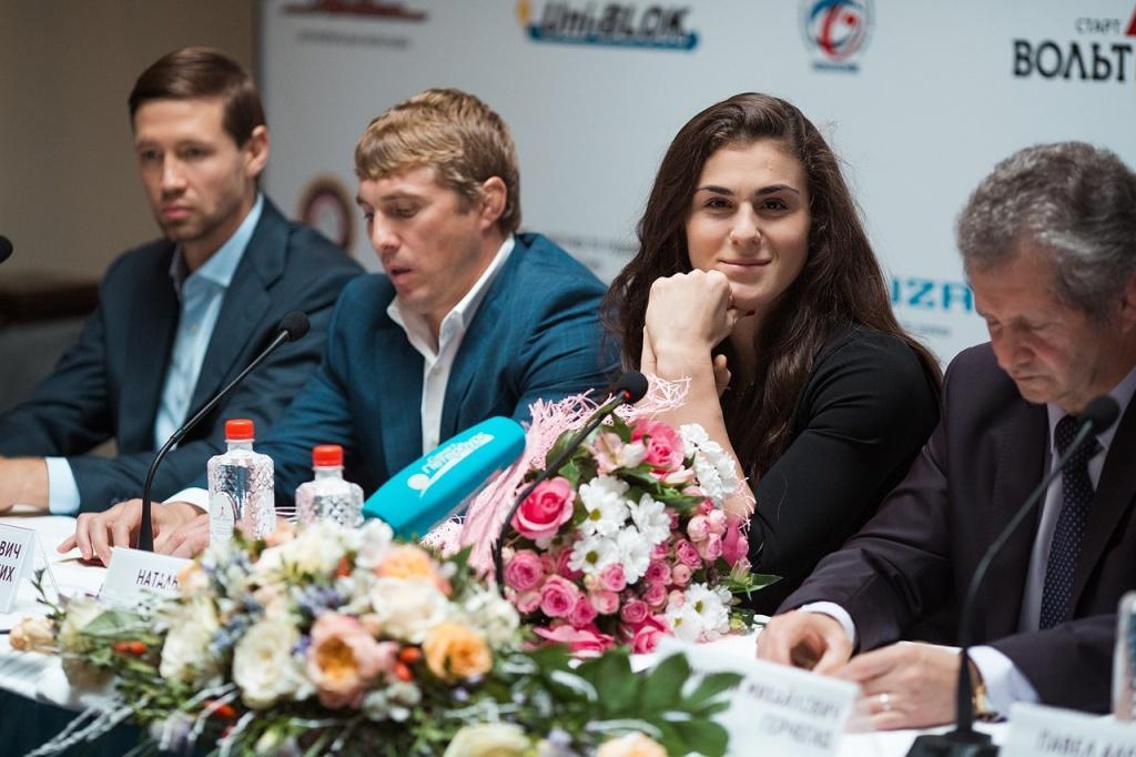 Наталья Воробьевана пресс-конференции